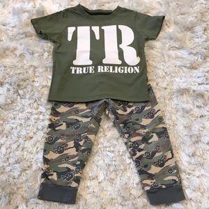 Other - Toddler Camo set, Pants: 18M, TrueReligion top: 2T